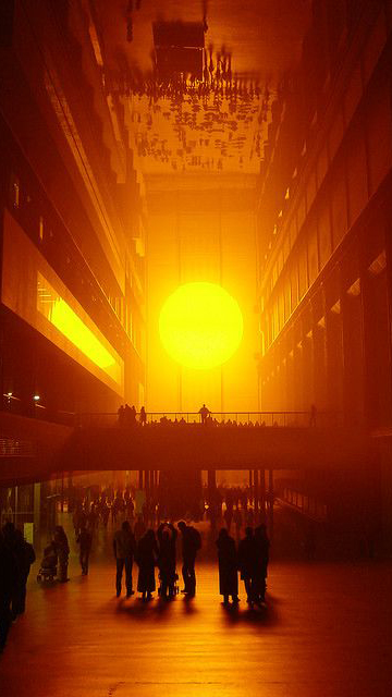 Tate Modern Turbine Hall with an Artificial Sun