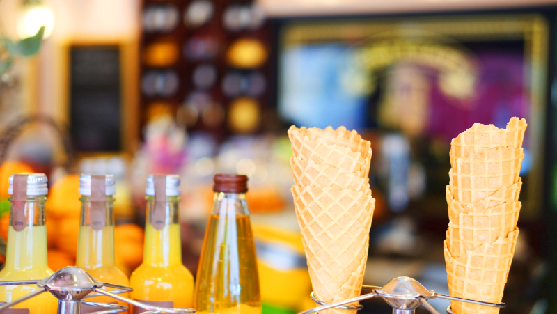 A Paris Ice Cream and Sorbet shop