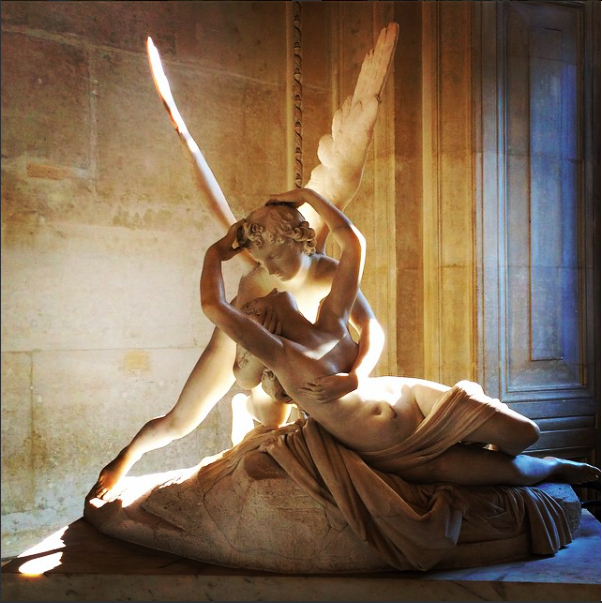 Cupid and Psyche at the Louvre Museum