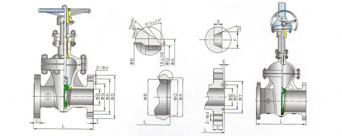 De gegoten Klep van de Roestvrij staalpoort A351 CF8 SS304