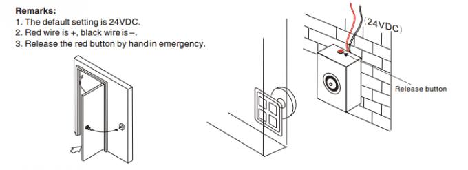 De regelbare Elektrische Muur zet Magnetische Deurhouder
