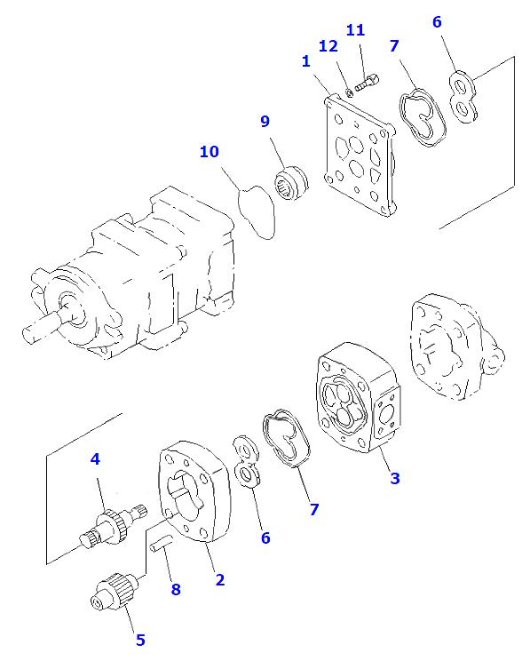705-41-08160 laderwa320 WA380 Hydraulische Pomp KOMATSU