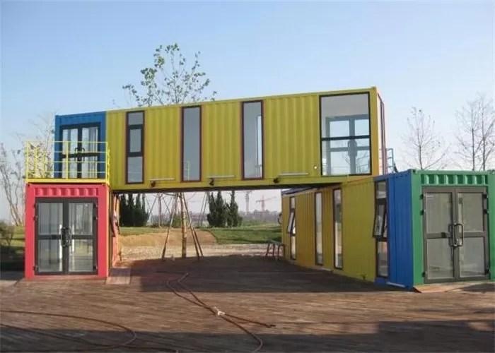 Het aangepaste Vlakke Huis van de Pakcontainer. de Huizen Vriendschappelijke Eco van de Staalcontainer