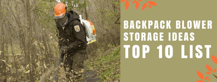 backpack blower storage ideas