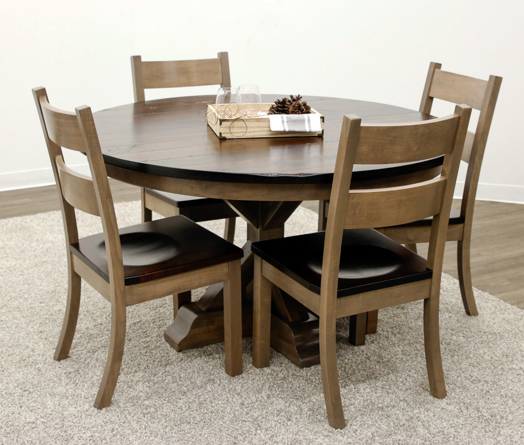 Western Chairs Dakota Single Pedestal Table With 4 Western Chairs Dakota Single Pedestal Table With 4 Western Chairs