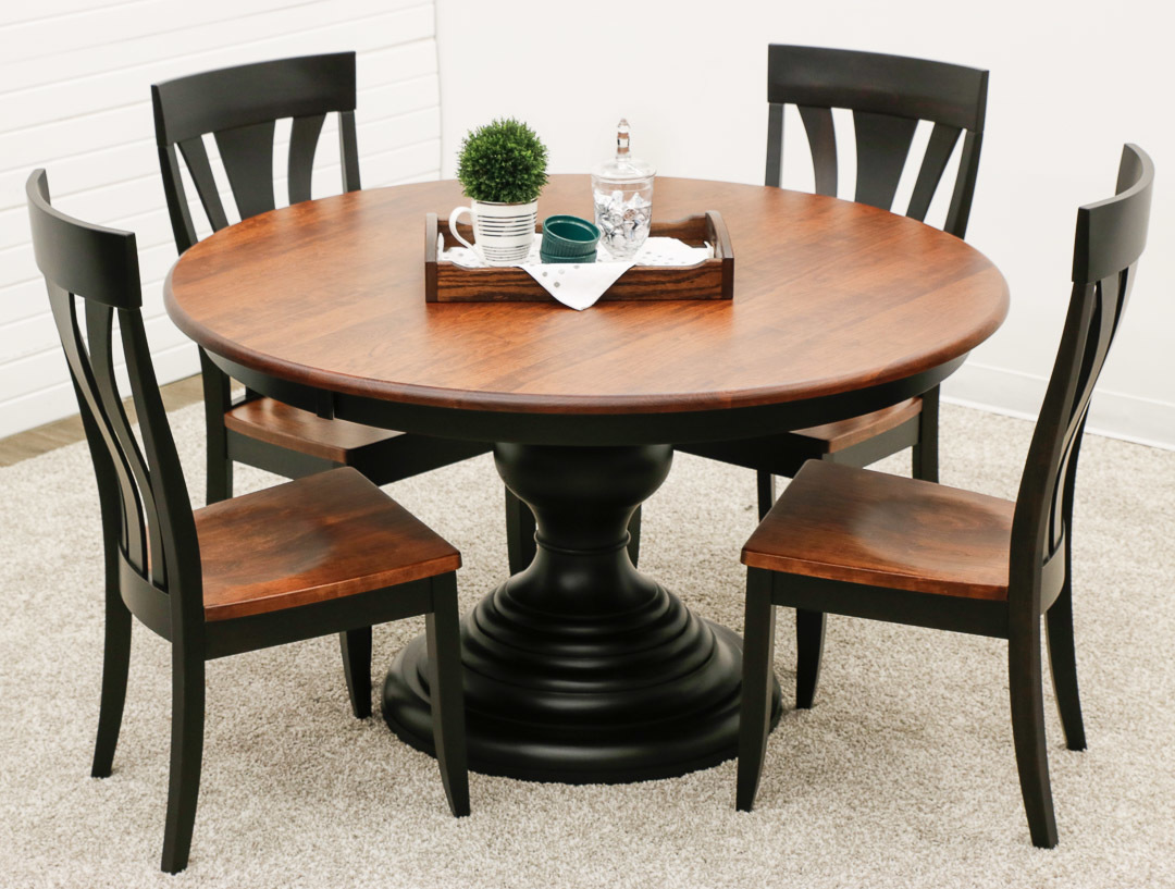 Pedestal Chair Mc Global Pedestal Table With 4 Hudson Chairs Mc Global Pedestal Table With 4 Hudson Chairs