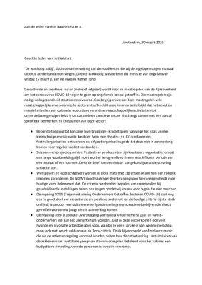thumbnail of Brief aan kabinet taskforce cultuur 30 maart