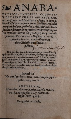Martinus Duncanus, 1549 (Jaspers & Meeder #12)