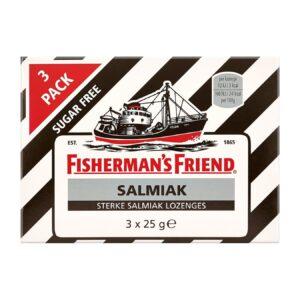 Fishermans Friend Salmiak suikervrij 3 pack