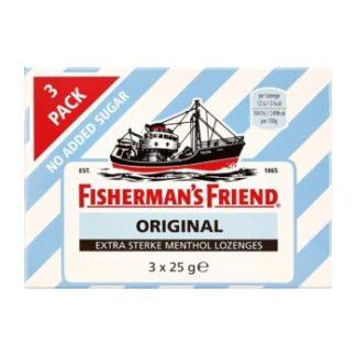 Fisherman's Friend original geen toegevoegde suikers 3-pack