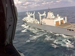 Truly needed, replenishment ships at work... to delvier reach to the RNLN.