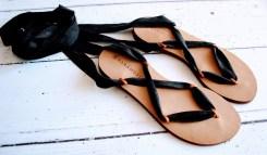 Raramuri sandalen black ribbon 3