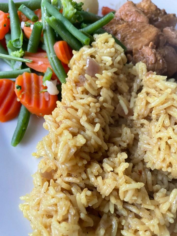 Gele rijst in kokos recept