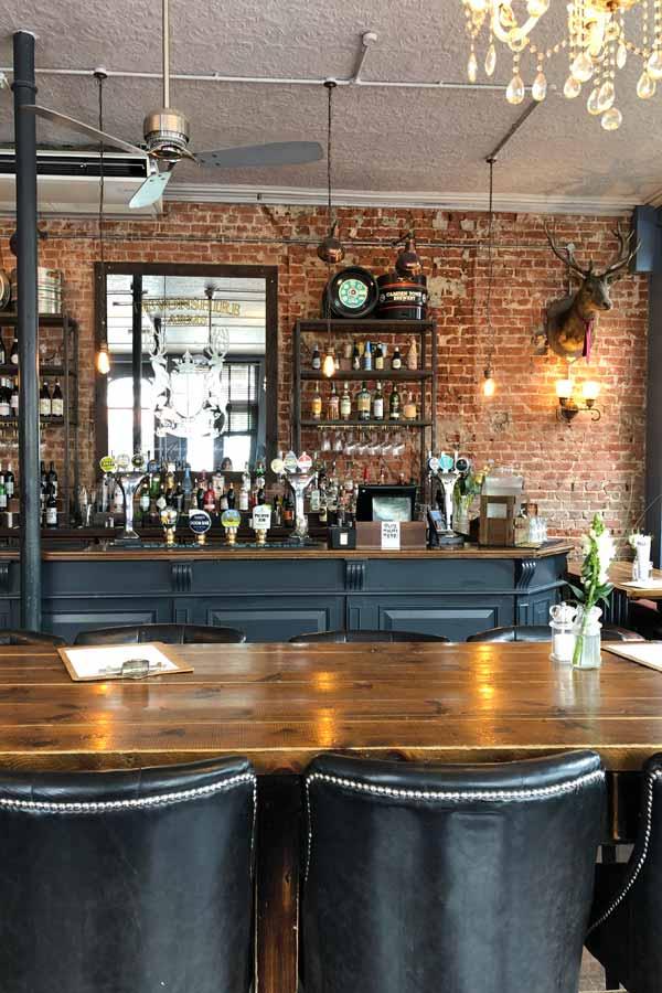 Interior of The Devonshire Arms pub in Kensington, London