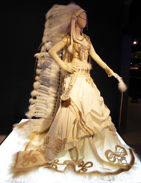 Native American inspired wedding dress