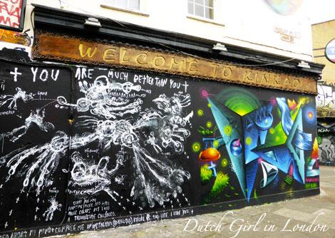 Rallitox Mauro 149 (Truly Design) mural on restaurant Kinkao on Pedley Street in Shoreditch