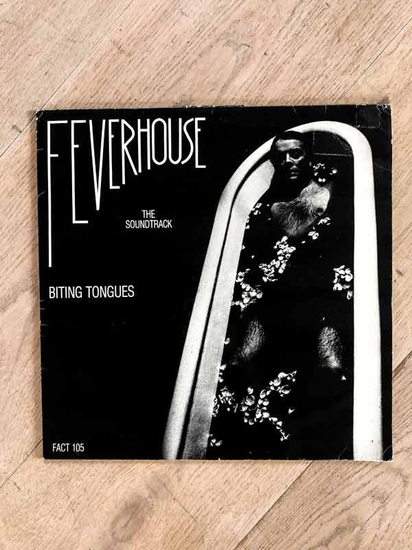 Biting Tongues vinyl sleeve of Feverhouse album front