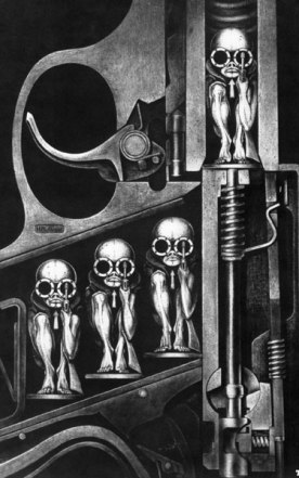 'Bullet Babies' by H.R. Giger (1967)