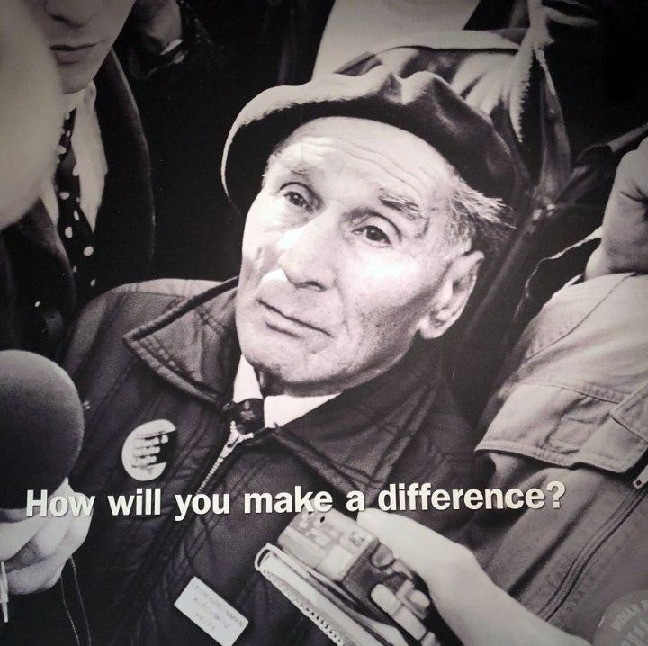 Portret van Holocaust-overlever Leon Greenman