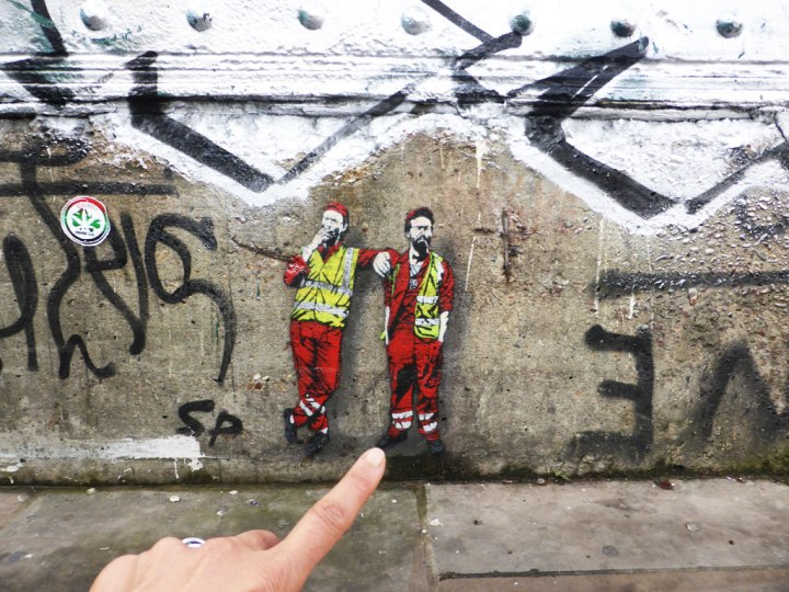 Meet the Tiny Street Cleaners by Stencil Artist Jaune