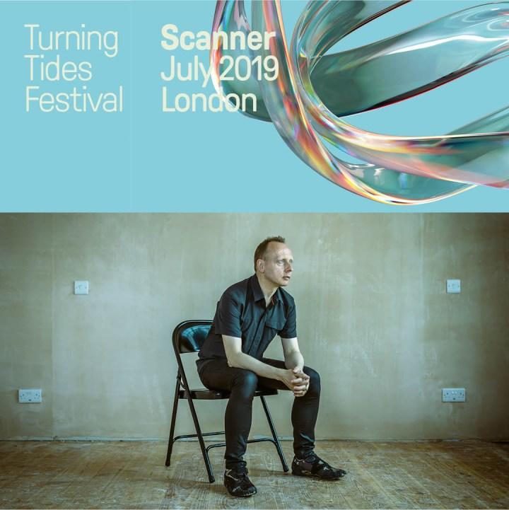 Poster for Scanner aka Robin Rimbaud at the Turning Tides Festival