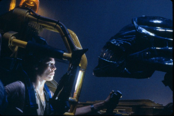 Still from Aliens with Sigourney Weaver