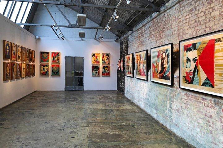 Shepard Fairey exhibition StolenSpace Gallery London 2019