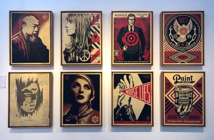 Shepard Fairey London exhibition StolenSpace Gallery artworks