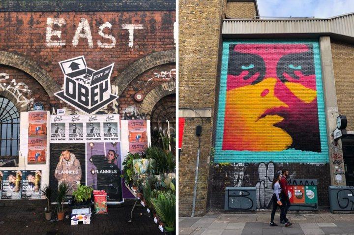 Shepard Fairey street art in London