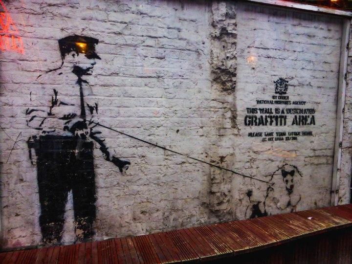 Banky street art in east London