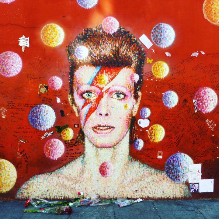 David Bowie memorial in Brixton London