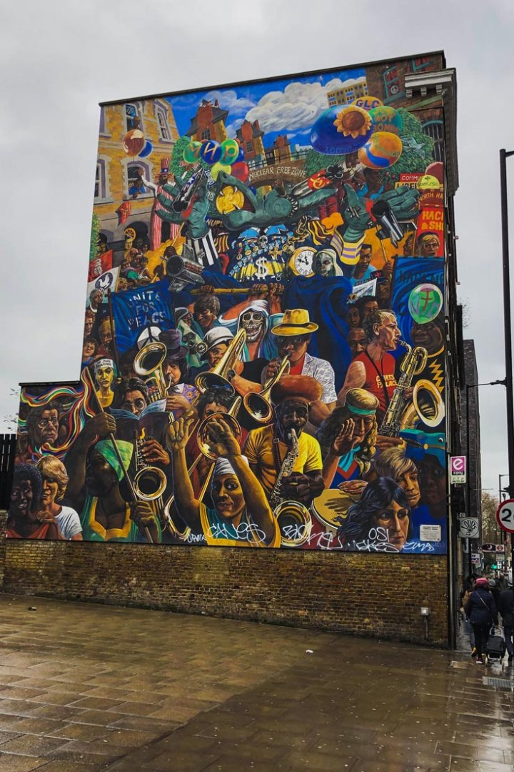mural near Dalston Junction