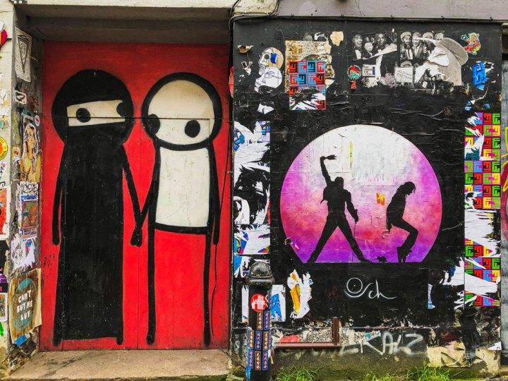 mural by Stik on Princelet Street London