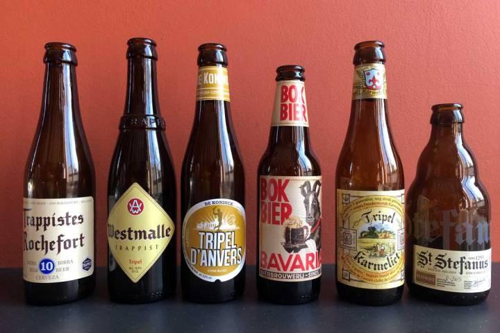 Lege flesjes Nederlandse en Belgische speciaalbieren