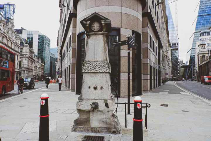 the historical Aldgate Water Pump is an attraction near Tower Bridge, London