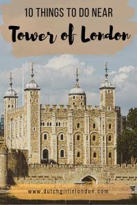 Pinterest image for 10 things to do near Tower of London