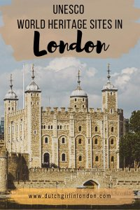 Pinterest image of Tower of London, one of the four UNESCO World Heritages Sites in London