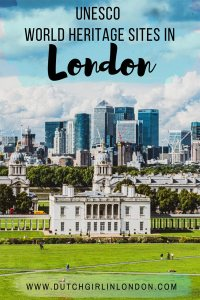 Pinterest image of Maritime Greenwich, one of the four UNESCO World Heritages Sites in London