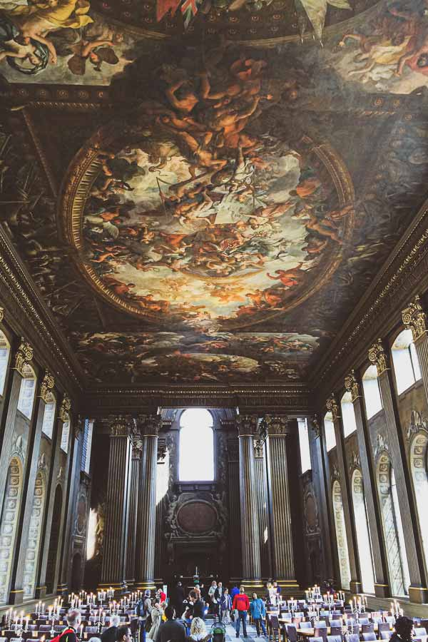 Photo of the Painted Hall in the Old Royal Naval College