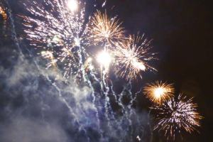 5th of November fireworks display in our local park