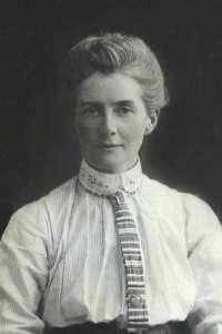 Portrait of British nurse and war hero Edith Cavell