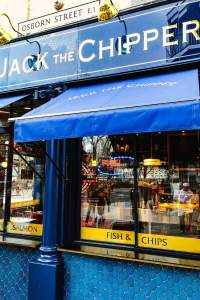Jack the Chipper fish and chips shop in Whitechapel, London