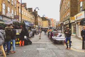 Petticoat Lane Market is one of the oldest street markets in London
