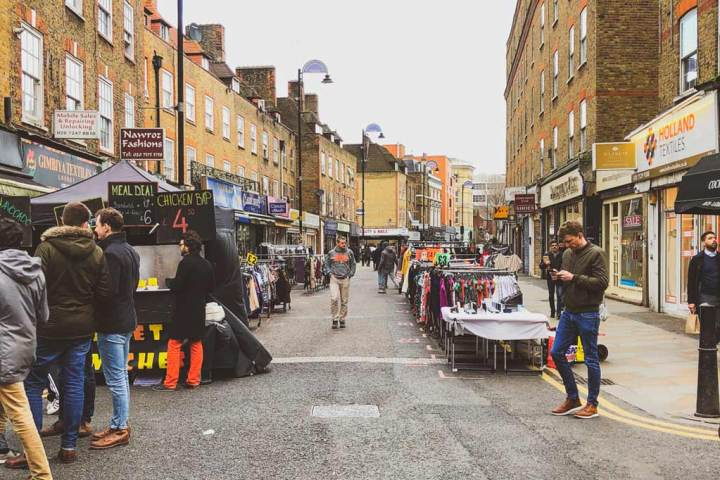 Petticoat Lane Market is one of the oldest street markets in London