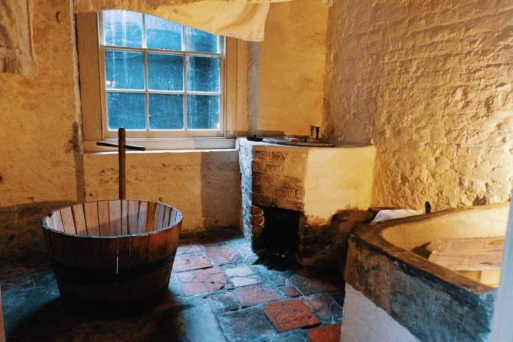 Wash house in the Charles Dickens house in London