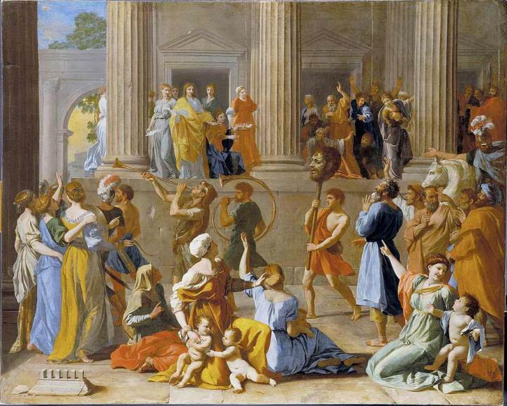 'Painting The Triumph of David' by Nicholas Poussin