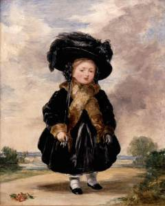 Painting 'Princess Victoria aged Four' by Stephen Poyntz Denning