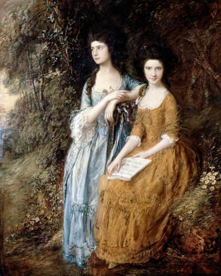 Painting 'Elizabeth and Mary Linley' by Thomas Gainsborough