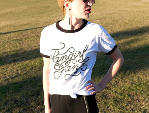 Shop Diamond Cake Fangirl Gang T-shirt