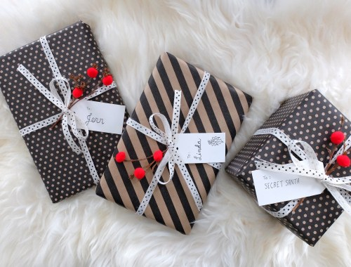 Whimsical Christmas Wrapping from Dutchie Love